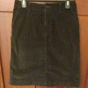 Eddie Bauer black corduroy skirt